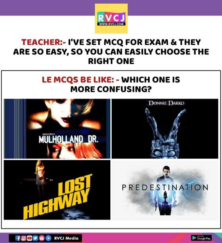 Multiple choice questions  #Hollywood #movies #rvcjmoviespic.twitter.com/9FsUMWCc0D