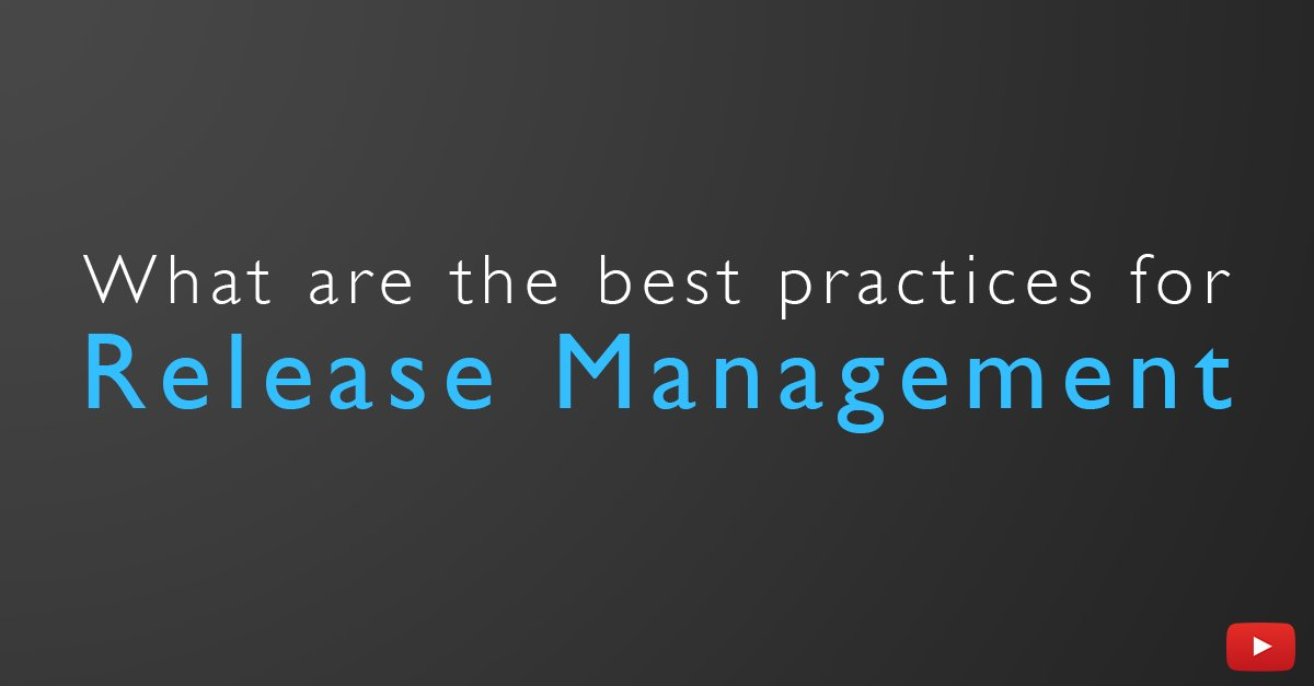 What are your processes for Release Management? ➡️ bit.ly/FB2ReleaseMana… #DevOps #ContinuousDelivery