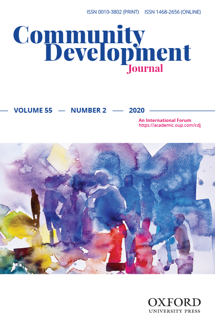 """Thomas Lambourne & Suzanne Jenkins: """"Enhancing social values, identity and wellbeing: the impact of participatory working with housing association tenants"""", recently published in our latest issue https://buff.ly/2Kfn3UY #CDJ #recentlypublishedpic.twitter.com/KEPzuVrd4t"""