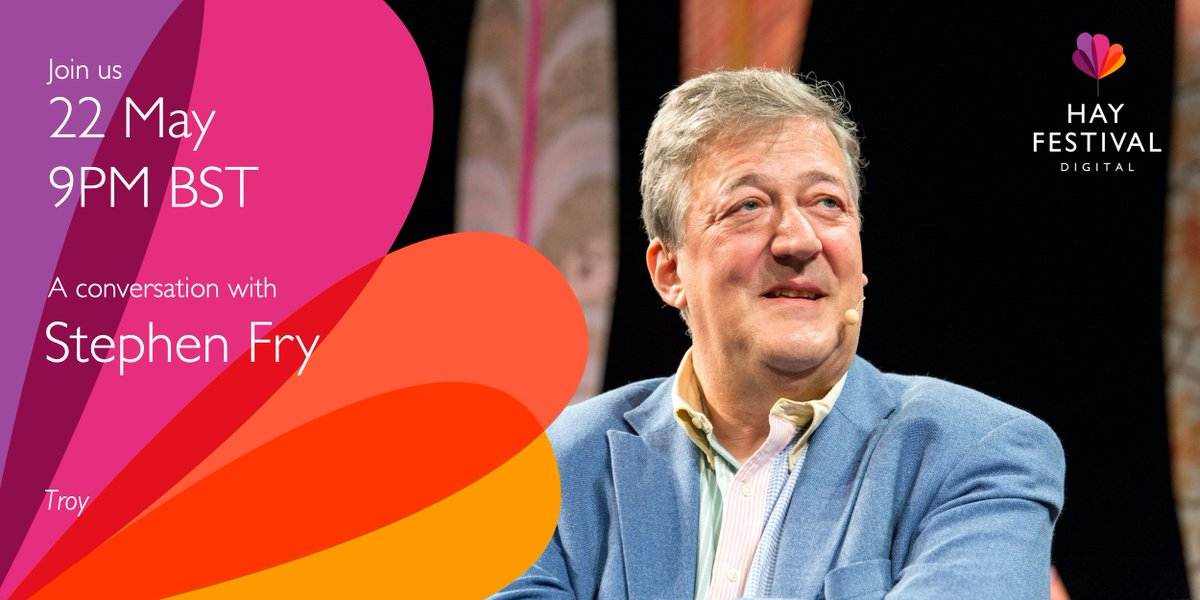 Its @hayfestival time. We cant be together in person, but join me live tonight to give an exclusive preview of my next book, #Troy. Register for free at hayfestival.org/digital #ImagineTheWorld