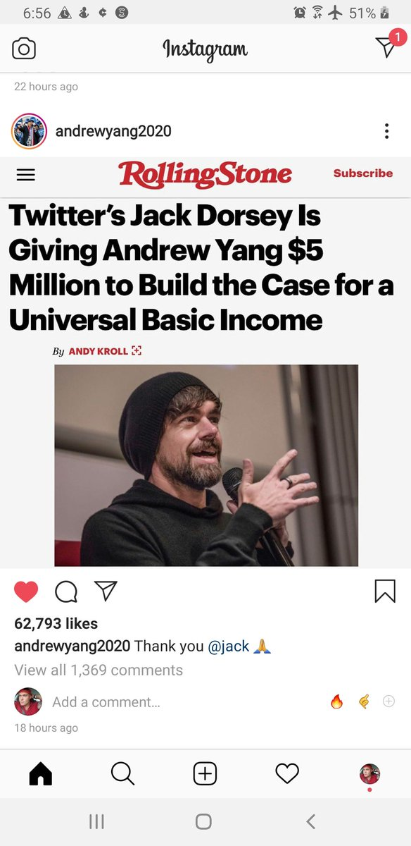 """Yes! This Is Amazing News!!! Just what """"We The People"""" Need! Thank You @Jack & @AndrewYang !!! #YangGang2020 #YangGang #4Life #hOurTyMeIsNow 🤙 https://t.co/HWcDWmSYkP"""