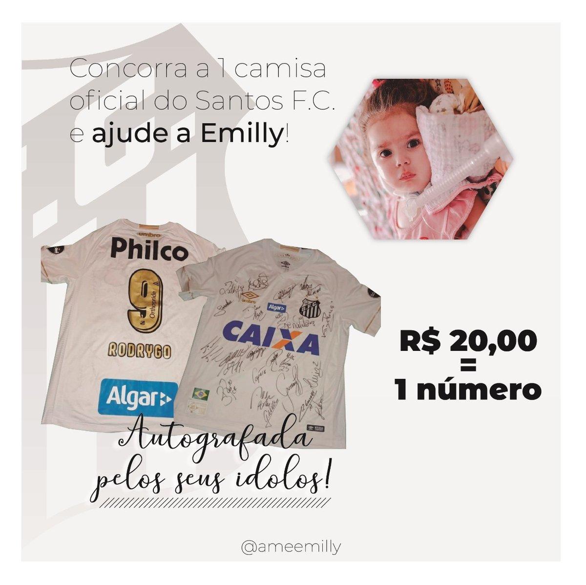 #SORTEIO Camisa do Santos Autografada  Por favor, participem e compartilhem com todos os Santistas que vocês conhecem! A Emilly precisa de nós! pic.twitter.com/EHH7KArcsC