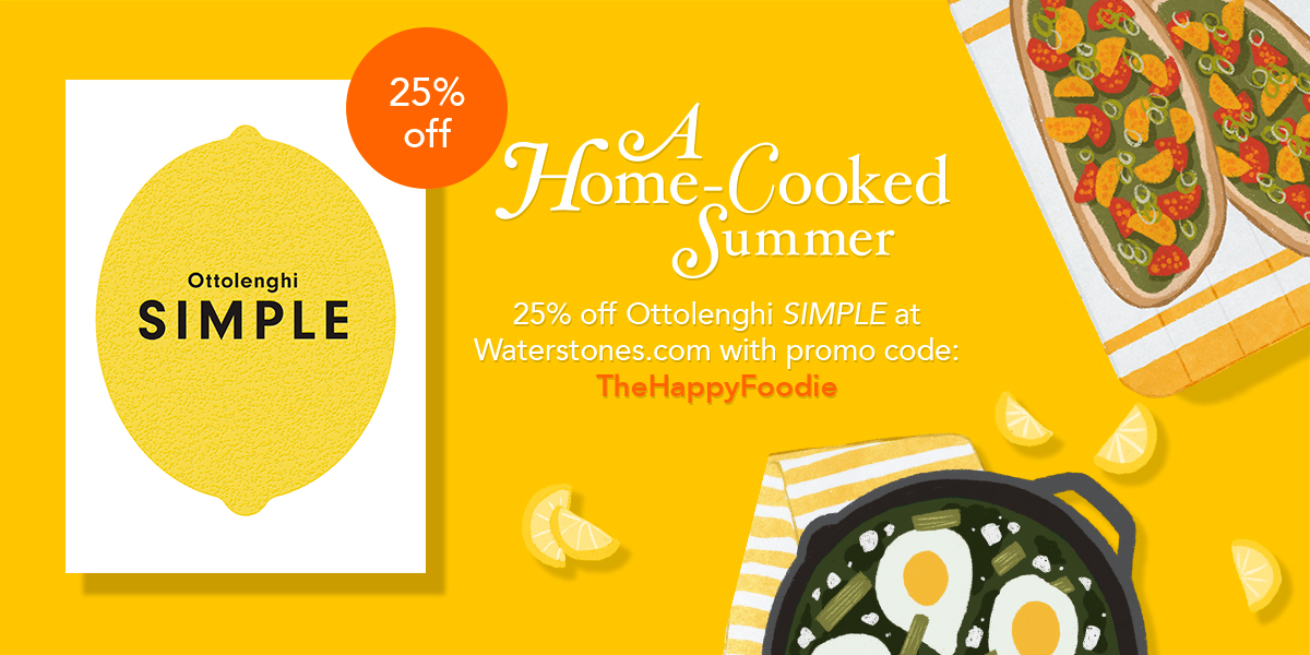 "As an added treat for our followers, we've teamed up with @Waterstones to offer an exclusive 25% discount on Ottolenghi SIMPLE. Just use the code ""TheHappyFoodie"" at checkout: https://t.co/isoh16BOXO https://t.co/c8uEvrIgrR"