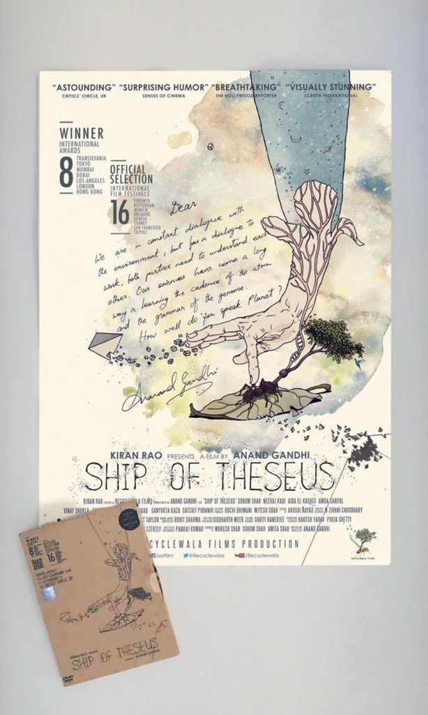 Ship of Theseus was amongst the 15 life-changing films of all time by the critics circle UK & Anand Gandhi has been kind enough to put up a poster & a DVD of his genius film up for auction - milaap.org/fundraisers/su… Send screenshots to contact@kunalkamra.in CC @Memewala