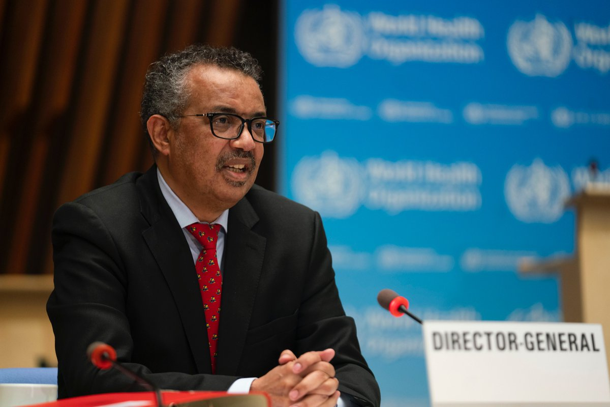 The full speech by @DrTedros at the #EB147 👉 bit.ly/3bVXu70