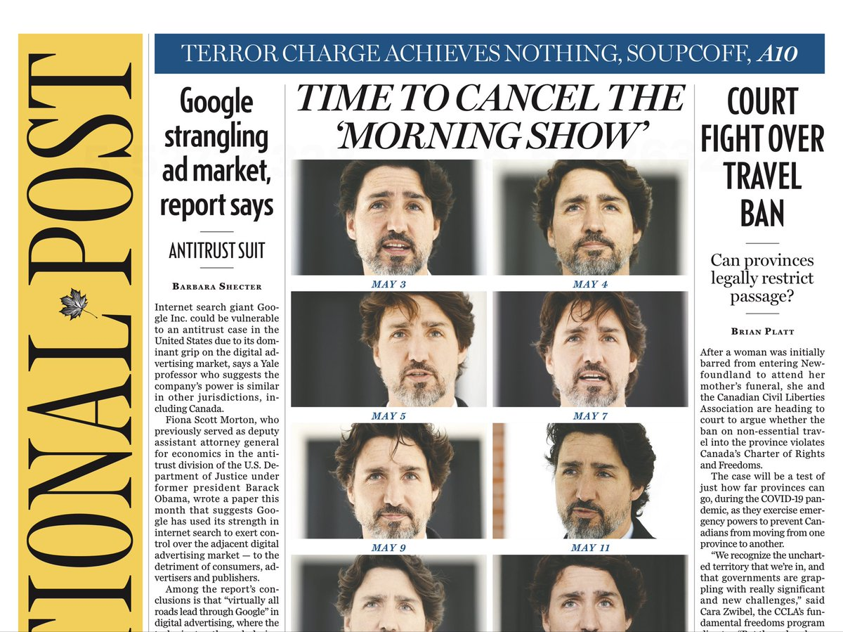 Yep. Once upon a time, Ottawa reporters were telling us the phoned-in questions were randomly chosen. We now know that's a lie, and that a PMO staffer is involved in choosing who questions Trudeau #cdnpoli #cdnmedia