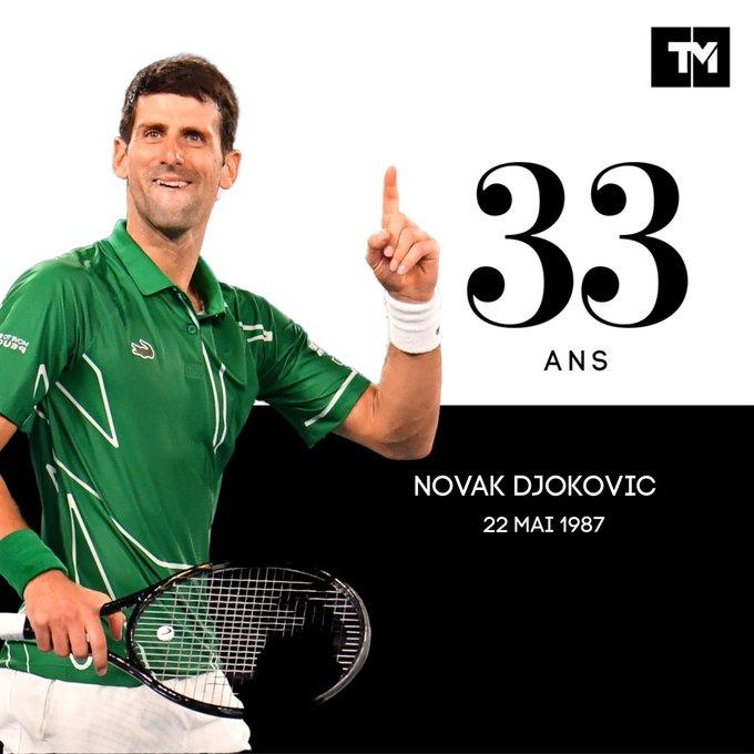 33 ans, 79 , 17 en Grand Chelem. Happy birthday, Novak Djokovic !