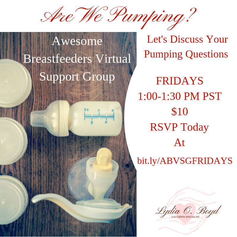Today at 1 PM PST we're chatting about all things breastfeeding including pumping. Come with your questions, accomplishments, and plans. Secure your spot at https://buff.ly/2UwWu5z  #LYDIAOBOYDCLE #BREASTFEEDING #VIRTUALSUPPORTGROUP #ZOOM #MOMMYTIPS #COVID19 #SAFERATHOMEpic.twitter.com/z7a4PaKNEs