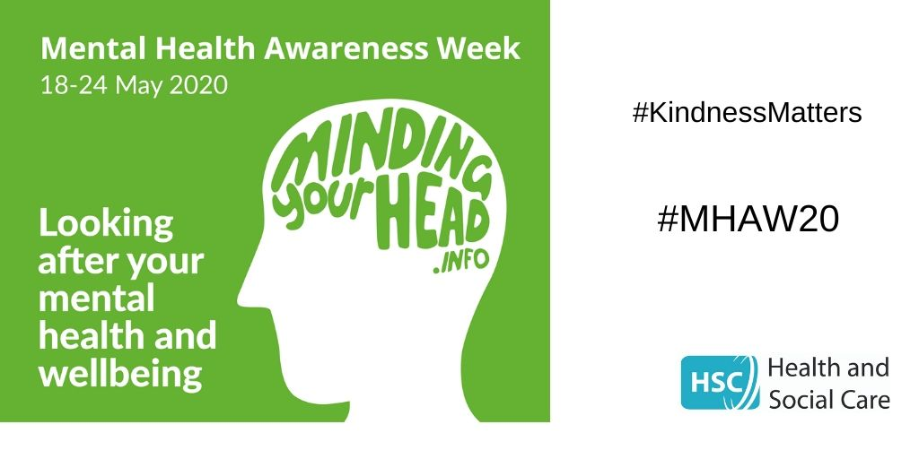 During #MentalHealthAwarenessWeek we want to highlight the range of supports and information to help you manage your mental health and emotional wellbeing during these difficult times. Visit MindingYourHead.info for free online resources, info and services. #YouAreNotAlone