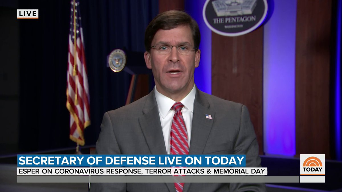 Secretary of Defense @EsperDoD gives an update on the shooting at Naval Air Station Corpus Christi in Texas.