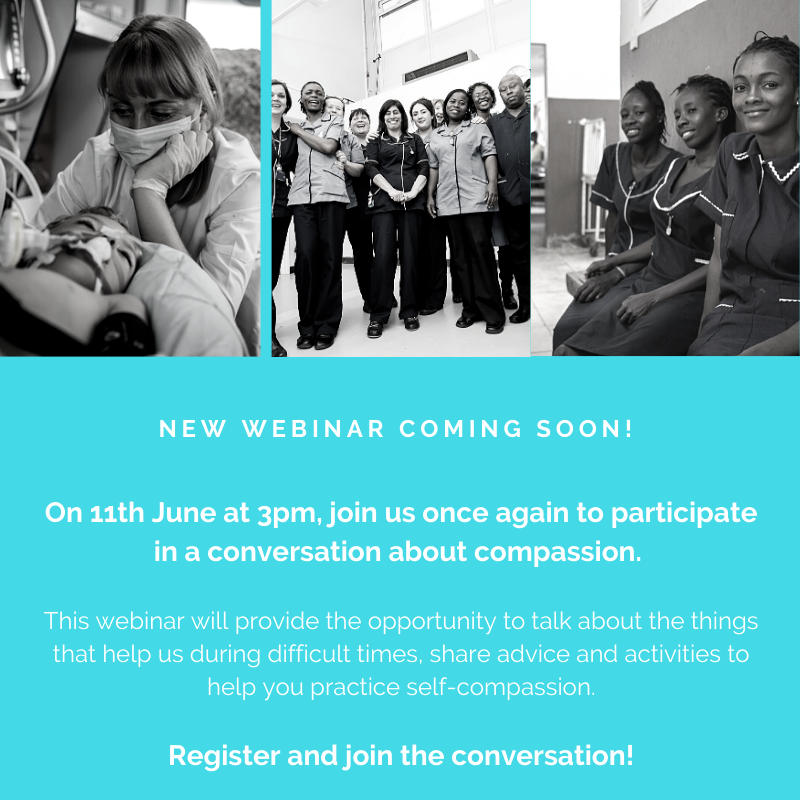 Dont miss out on our next #Compassion webinar - Compassion in troubled times: What about us? #2 Register here: bit.ly/3gbpDtR #Nurses2020 #Midwives2020 #COVID19