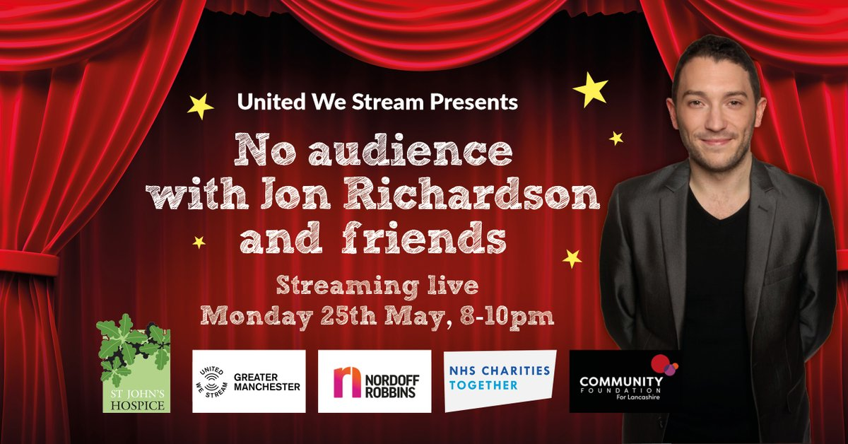 NEWS: @StreamGM are hosting the very special No Audience With @RonJichardson, bringing together huge names in #comedy for a live stream event on Monday. Find out more in our comedy streaming guide here >>  #tmDiscover