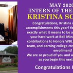 Image for the Tweet beginning: Congratulations Kristina Schwab-May Intern of