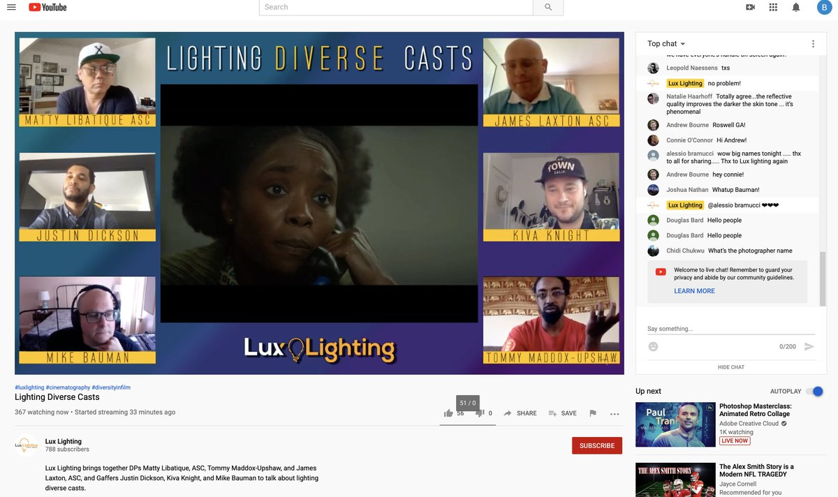 This is happening RIGHT NOW over on YouTube. Film school is free, folks -- youtube.com/watch?v=gcKJoW…