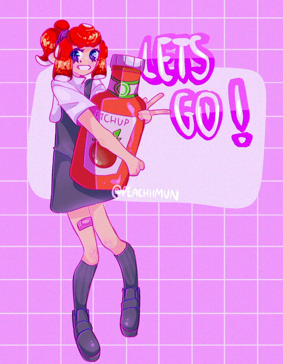 let's go team ketchup!! do your best and have fun everyone ❤️🤍 #Splatoon2 #SplatArt
