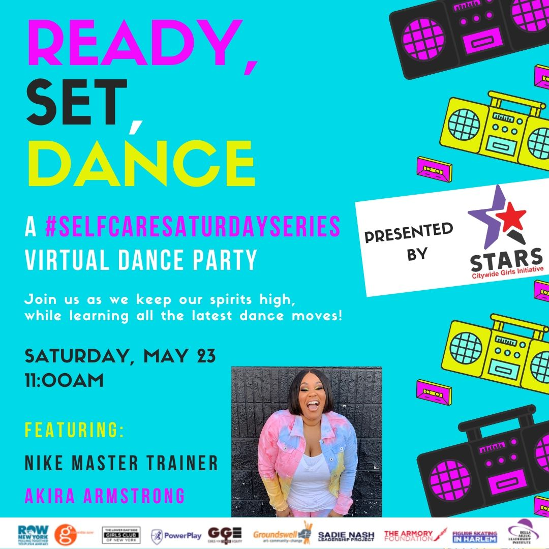 Join us tomorrow for #selfcaresaturdayseries for a virtual dance party at 11am! @prettybig5 will be sharing her magic ✨✨✨  #STARSCGI #STARSselfcare #Selfcaresaturdayseries #wellness #prettybigmovement #Iamprettybig #akiraarmstrongchoreography https://t.co/zraXH5A6Nc