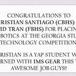 Image for the Tweet beginning: Congratulations GASTC winners!@HallcoCBHS @Hall_Schools @imsgearga