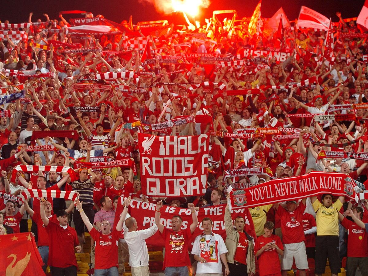 Nothing beats a Liverpool end at a European final...  #LFC<br>http://pic.twitter.com/X8FlryPT4O