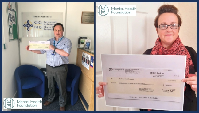 As partners with car rental company Enterprise, we have received a cheque for £1,500 which we will be donating to @mentalhealth Pictured below are Gareth Hardacre, Director of Workforce and Organisational Development and Kerry Flower-Fitzpatrick, Mental Health Support Advisor https://t.co/DfdFUO0SG3