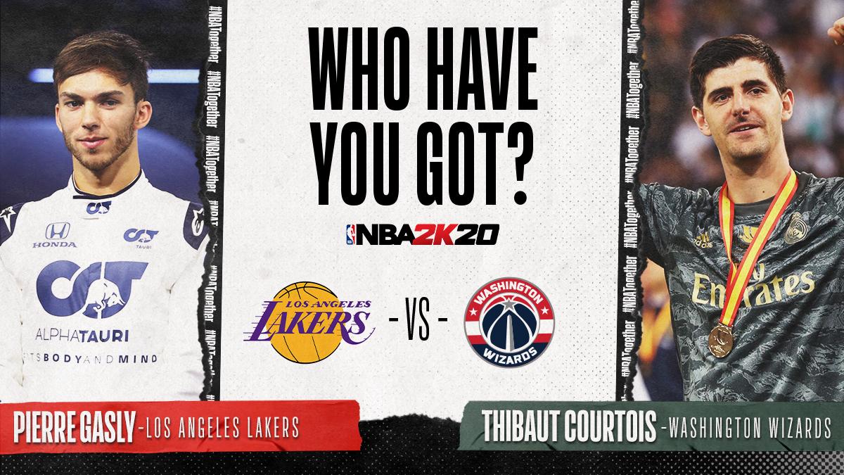 ¡Tenemos #NBA2KSundays este domingo con @thibautcourtois!  Su rival será @PierreGASLY 🚗🏀⚽️  En directo este domingo en Twitch y en nuestro Facebook #TakeOnThibaut https://t.co/EBzFMQL2Hi https://t.co/5j48bCs9sU