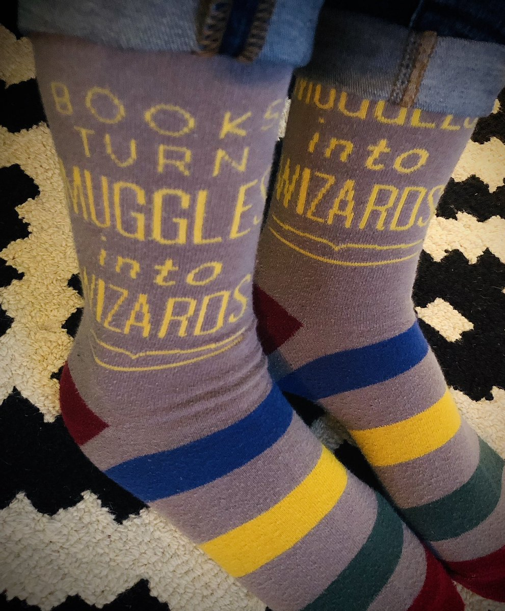 Rockin' my Harry Potter socks today!  Books certainly do turn Muggles into Wizards! 👩🏻‍💼➡️🧙🏻‍♀️ <a target='_blank' href='http://search.twitter.com/search?q=HFBTogether'><a target='_blank' href='https://twitter.com/hashtag/HFBTogether?src=hash'>#HFBTogether</a></a> <a target='_blank' href='http://search.twitter.com/search?q=HFBTweets'><a target='_blank' href='https://twitter.com/hashtag/HFBTweets?src=hash'>#HFBTweets</a></a> <a target='_blank' href='http://twitter.com/jk_rowling'>@jk_rowling</a> <a target='_blank' href='https://t.co/0DLcmT0FQR'>https://t.co/0DLcmT0FQR</a>