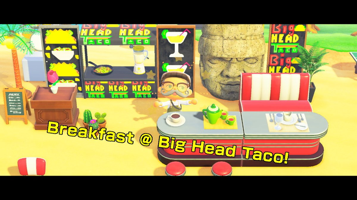 I didnt see anyone with a taco stand so I made one. LOL #AnimalCrossingNH #AnimalCrossing #ACNH #NintendoSwitch