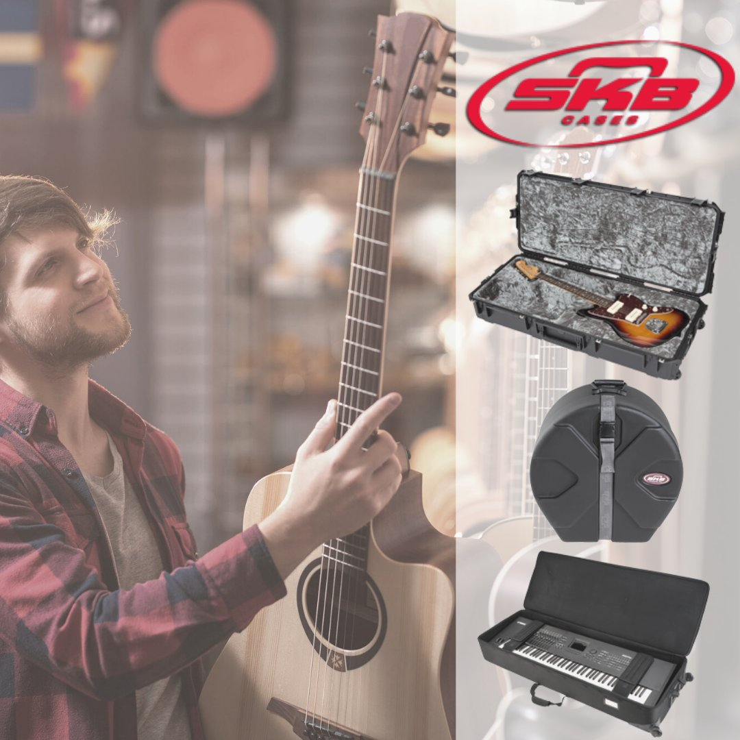 """Today is National """"Buy a Musical Instrument Day!"""" Be sure to keep your precious purchases safe with an @SKBCases instrument case. skbcases.com #SKB #skbcases #skbcase #music #musician"""