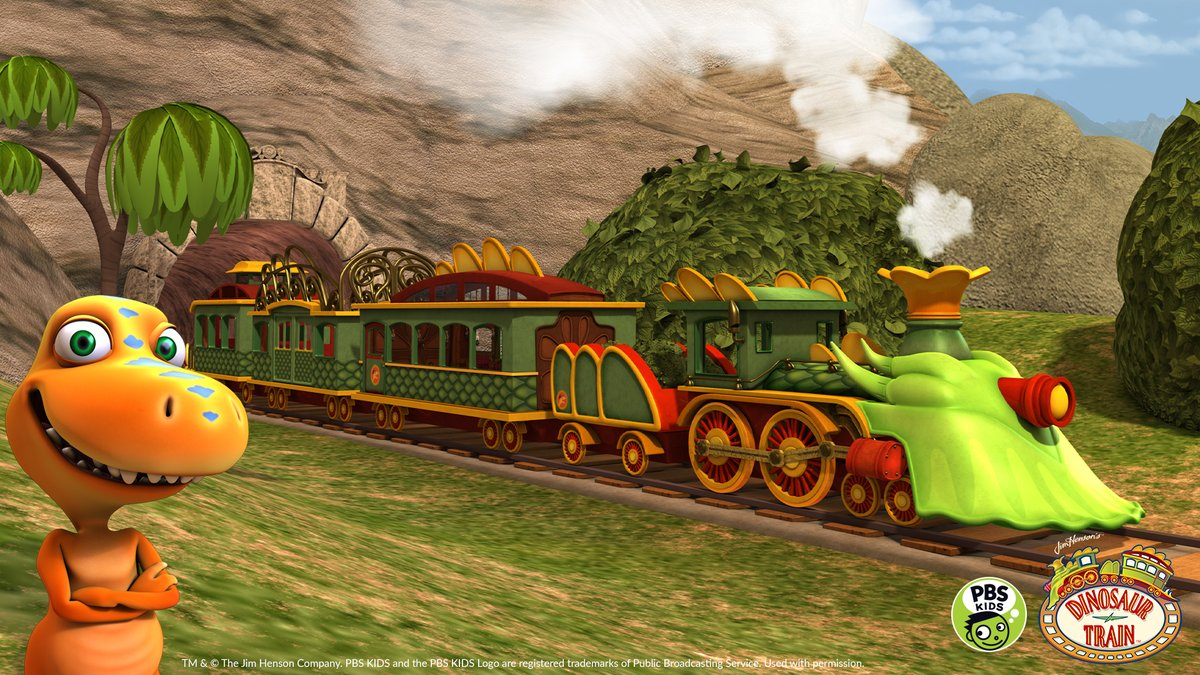 All aboard! We're teaching our next class on the @DINOSAURTRAIN with this new virtual background!