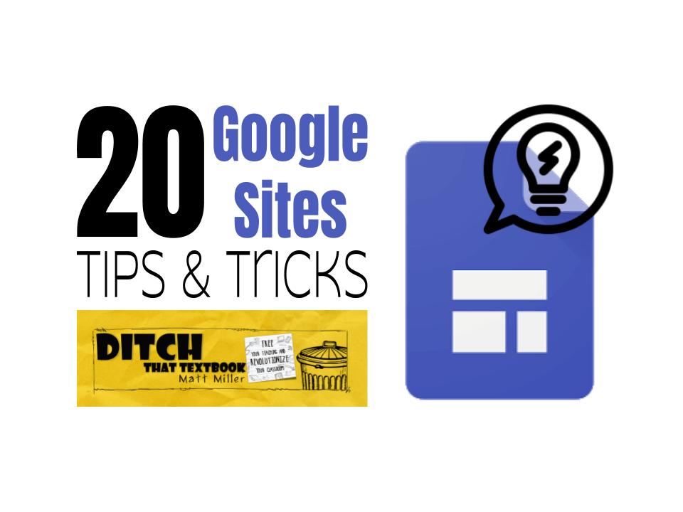 🚨Updated!🚨 We gave this post a power-packed👊 makeover! 💥20 Google Sites tips and tricks 💻Getting started w/ Sites 💻Links to FREE tutorials for students 💻Tons of Google Sites tips & tricks 💻10 things teachers should know about sites ditchthattextbook.com/20-google-site… #ditchbook