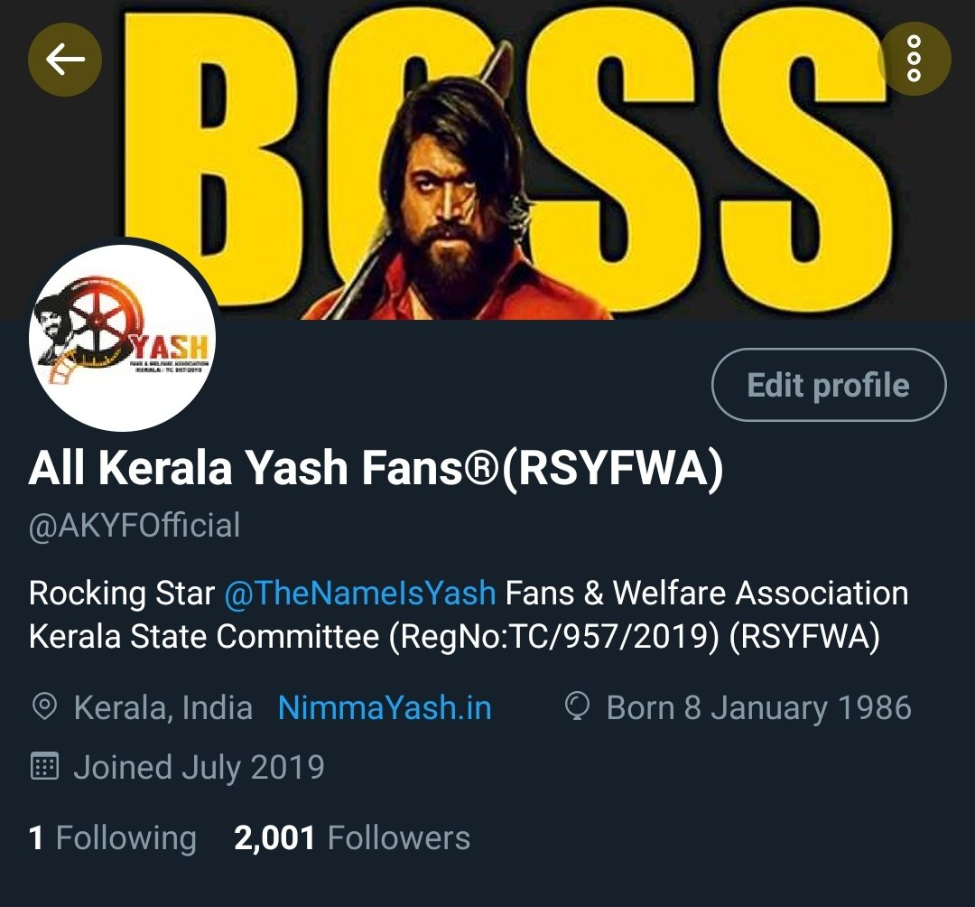 Our Team ID Crossed 2K Followers 😎♥️  Thanks And Keep Supporting Annthammas 🙏♥️  @TheNameIsYash | #KGFChapter2 https://t.co/qTmbKJ4y3I