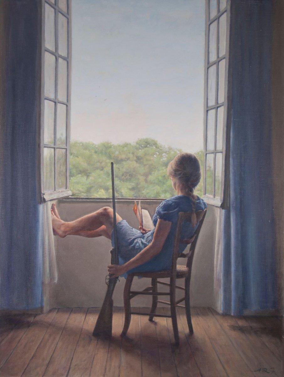 Waiting  Artwork © Alex Russell Flint https://t.co/RM7rooyUvY