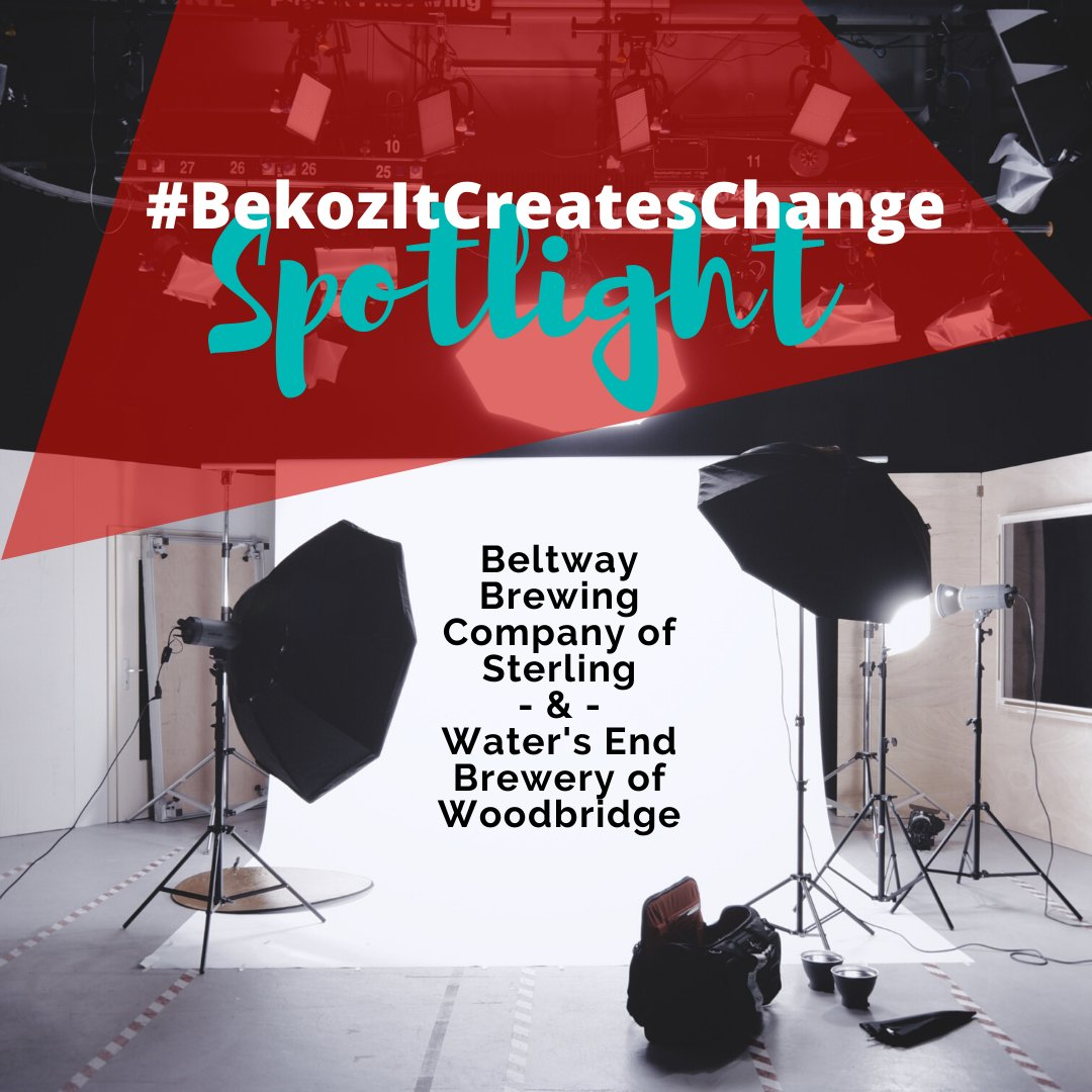 #BekozItCreatesChange Spotlight: Waters End Brewery of Woodbridge and @BeltwayBrewCo These NoVa breweries are giving $6 from every six-pack sold of their People Performing under Extreme conditions (PPE) India Pale Ale to @InovaHealths #COVID19 Fund. bit.ly/2Z43VCj