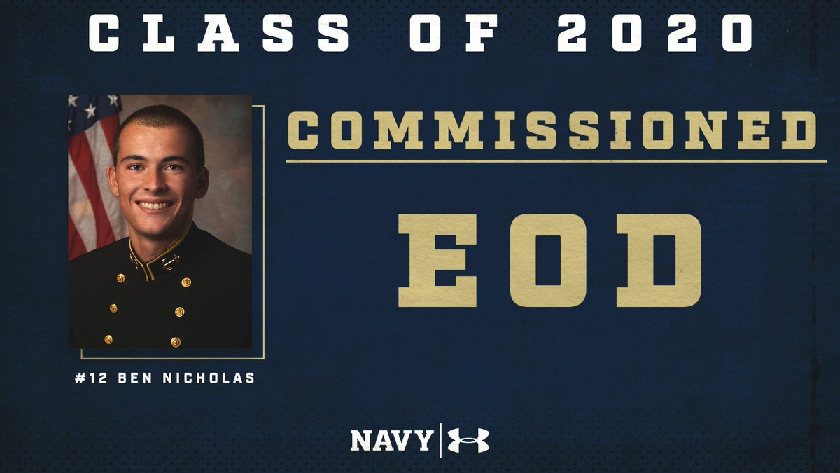 Congratulations to our 4 seniors, and the entire USNA class of 2020, on their commissioning!