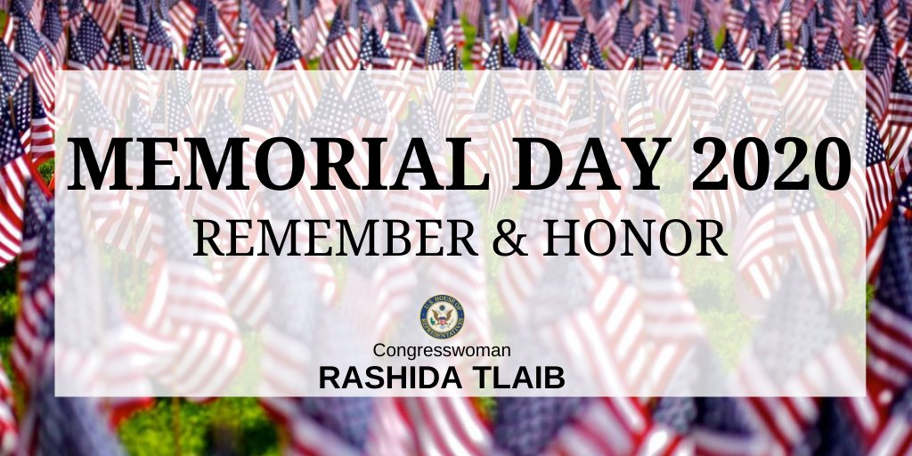 Today, we honor the servicemembers we have lost.   We might not be physically present to honor our fallen servicemembers this #MemorialDay, but it is still necessary to remember their bravery, courage, and service to our country. https://t.co/XAI1zCxzkE