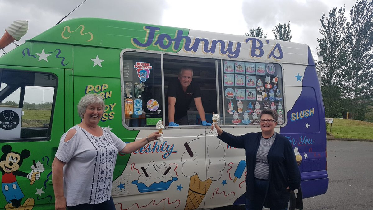 Thank you Johnny B for bringing ice cream to staff at Omagh Centre today! 🍦