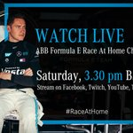 Don't miss tomorrow's #RaceAtHome as the series shifts to Berlin. 👊  #drivenbyEQ #RaceAgainstCovid