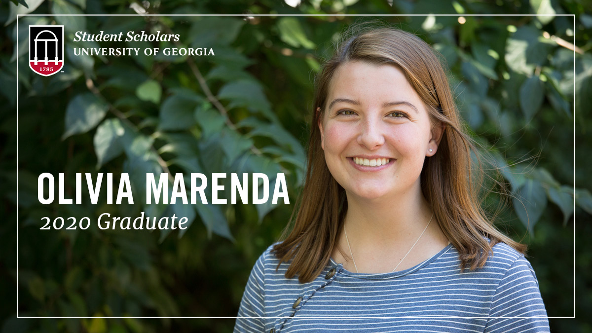 Congratulations Olivia Marenda, one of our amazing PSO Student Scholars and a new #UGAgrad!  With degrees in Biology & Spanish from @UGAFranklin & an MPH from @PublicHealthUGA, she's hoping to work as a med assistant in Atlanta this summer before beginning medical school! #UGA20 https://t.co/9Rlmm8fAJM