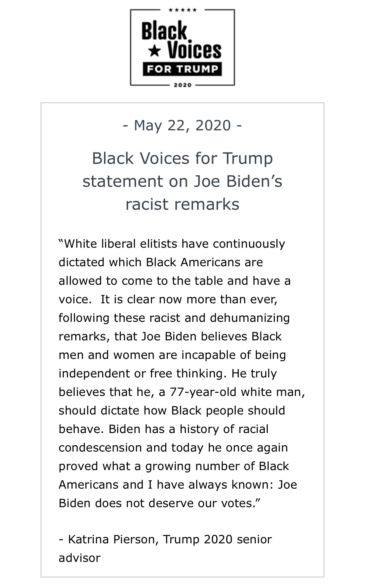 otlXqNH2_bigger BLACK CONSERVATIVES: JOE BIDEN'S 'YOU AIN'T BLACK' COMMENT 'RACIST AND DEHUMANIZING' [your]NEWS