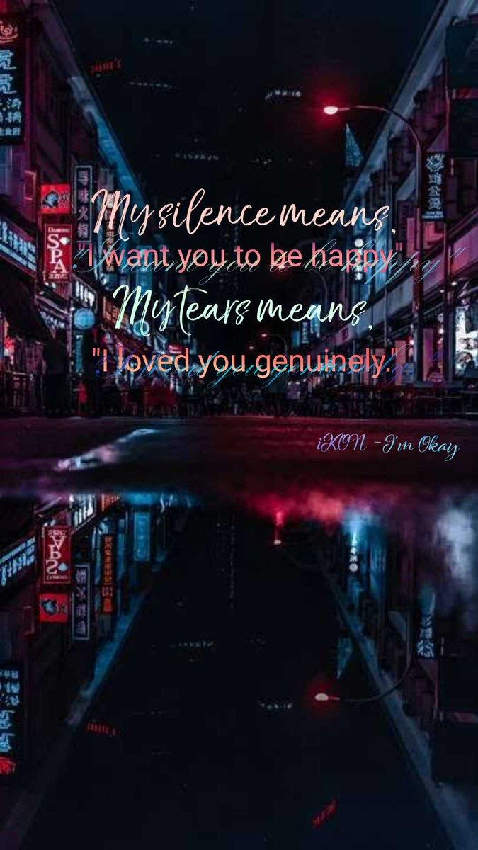 "#iKON - I'm Okay""My tears means, ""I loved you genuinely.""  #MewGulf"