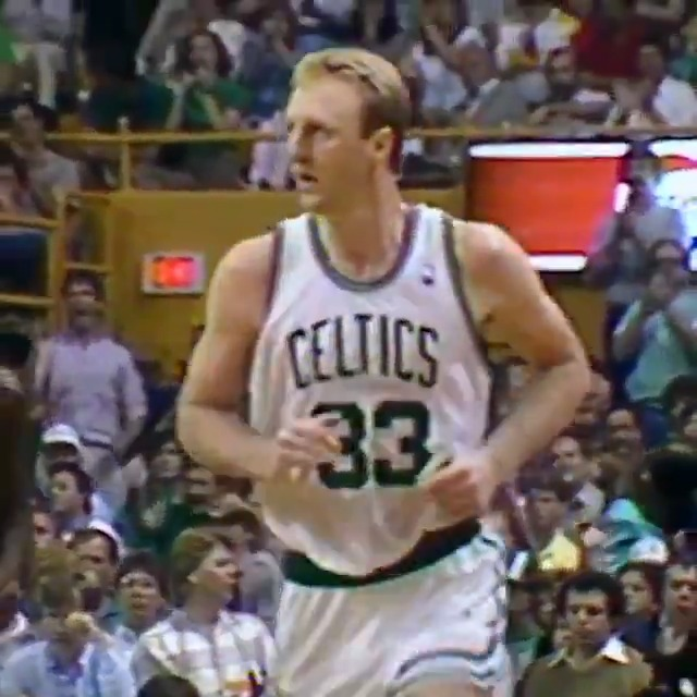 On this day in 1988, Dominique Wilkins (47 PTS) and Larry Bird (34 PTS) duel in epic fashion in Game 7 of the East Semis between the @ATLHawks and @celtics! #NBAVault https://t.co/sSp5dSqIdH