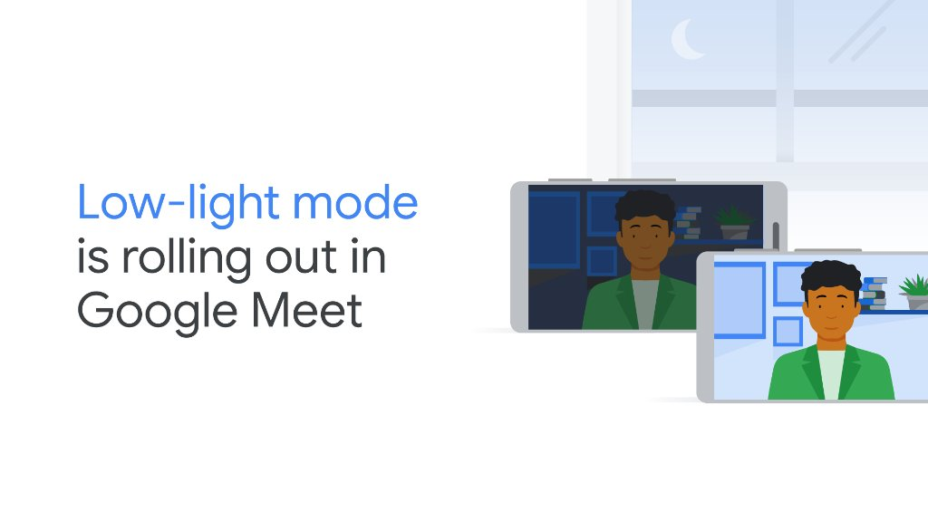 Were rolling out low-light mode in #GoogleMeet, which can help you and your students be more visible when meeting in lower lighting conditions. Take a look: goo.gle/34Xg3pm. #DistanceLearning