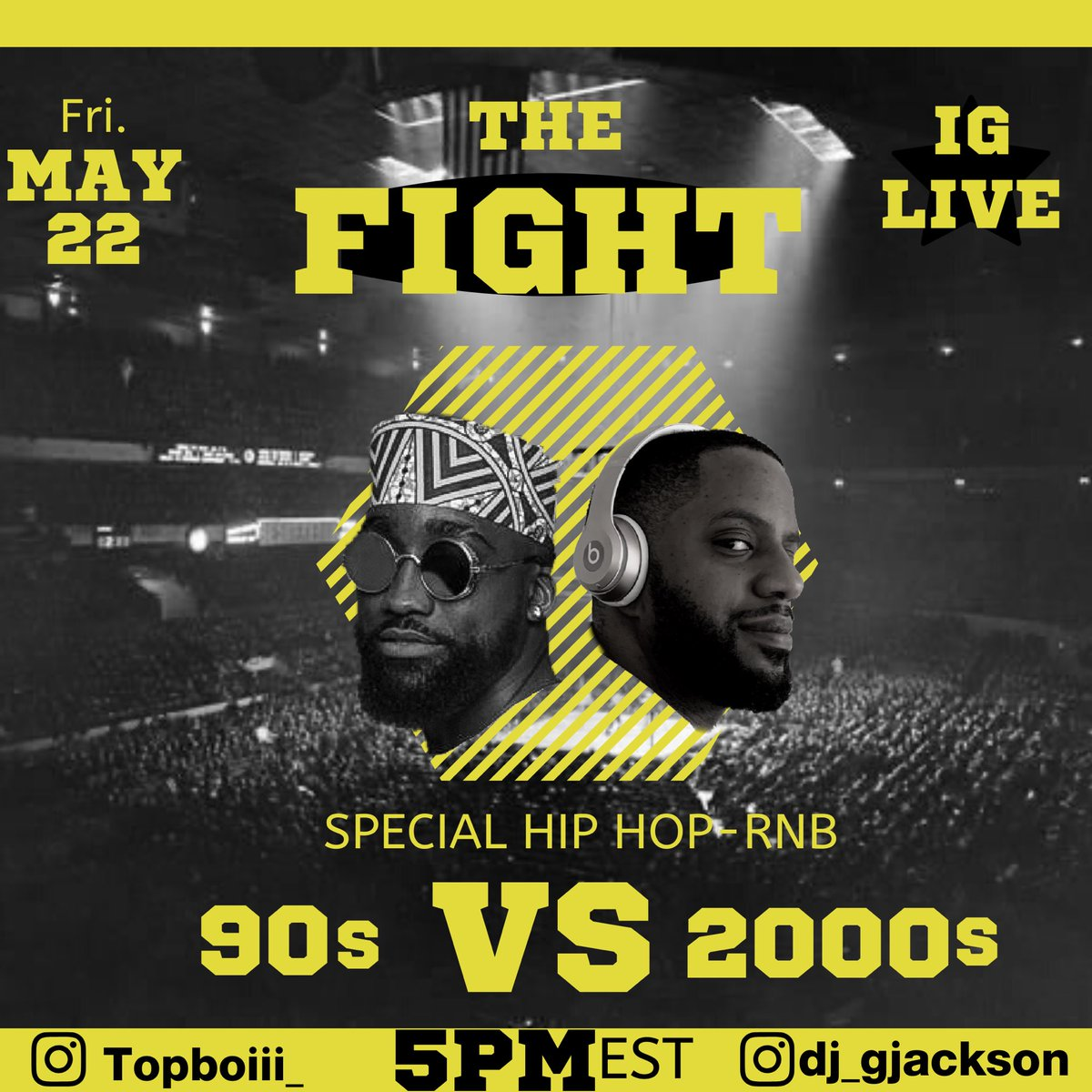 Tune in today! #hiphop #rnb 90s vs 2000s #thefight pic.twitter.com/d59PXkMoVP