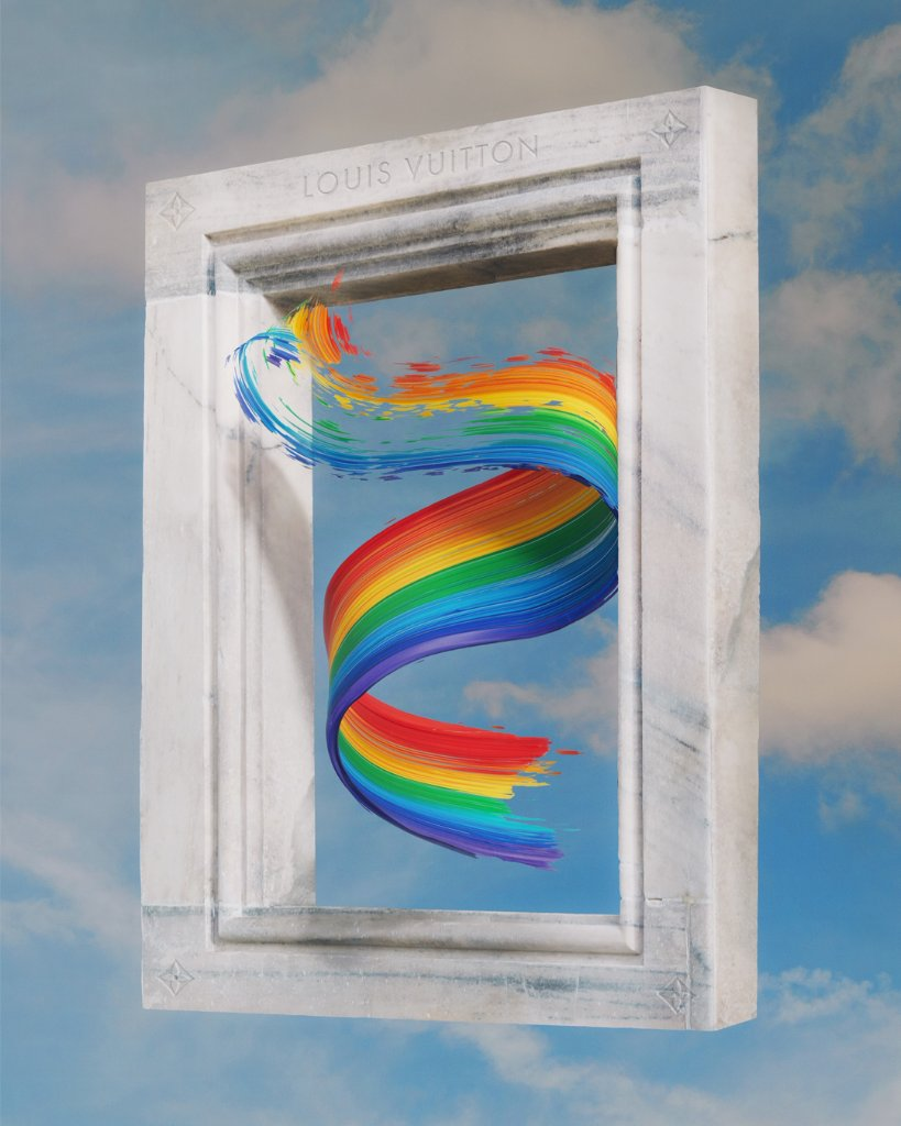 Colors of life. #LouisVuitton shares a message of comfort around the world by inviting members of the community to creatively interpret the rainbow. #LV🌈 Image by @hellocolor