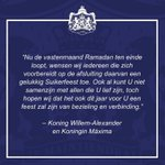 Image for the Tweet beginning: Na 2 stilligweken ivm Ramadan