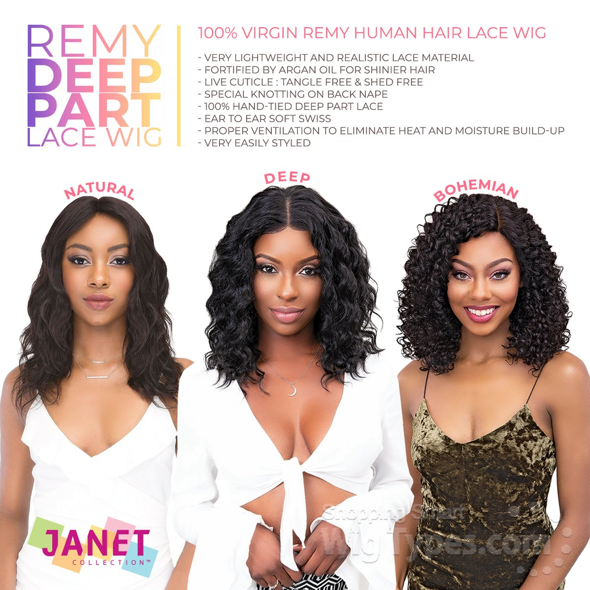 Janet Collection 100% Virgin Remy Human Hair Deep Part Lace Wigs (https://soo.nr/aHhP)  #wigtypes #wigtypesdotcom #protectivestyles #blackgirlhair #blackgirlmagic #lacefrontwig #HumanHair #janetcollection #remyhair #deep partwig #naturalwig #janetdeepwig #janetbohemianwigpic.twitter.com/GHdhoZ76xP