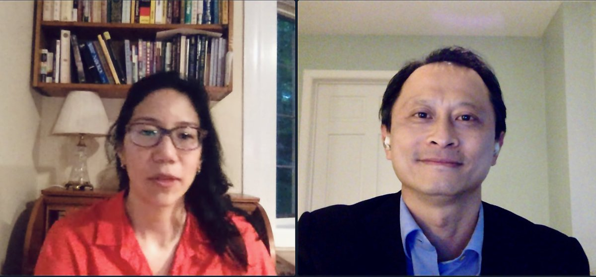 @jialynnyang and I had a scintillating conversation about her new book on immigration, ONE MIGHTY AND IRRESISTIBLE TIDE. Over 200 readers tuned in via @PoliticsProse. If you missed it, you can catch the replay and learn more about the book here: https://t.co/wXogeETFzg https://t.co/4gfjewOyfZ