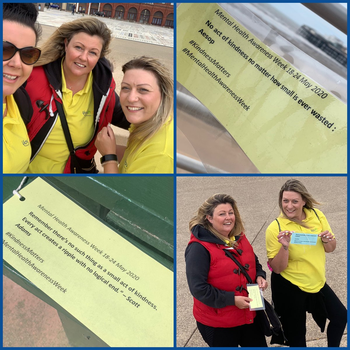 Just a little update what we at Youtherapy have been up to over mental health awareness week we have been across Blackpool and the FYLDE coast this week, sharing Notes to strangers #kindnessmatters #mentalhealthawarenessweek #blackpoolyoungpeopleservices