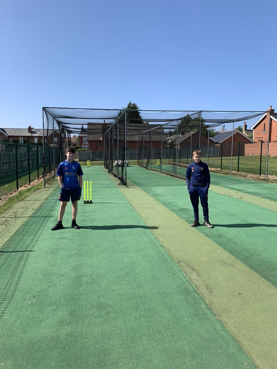 Finally some form of cricket at Brook Lane for 2020 as Nathan Brighouse & Bradley Bellamy become the first to use the nets.