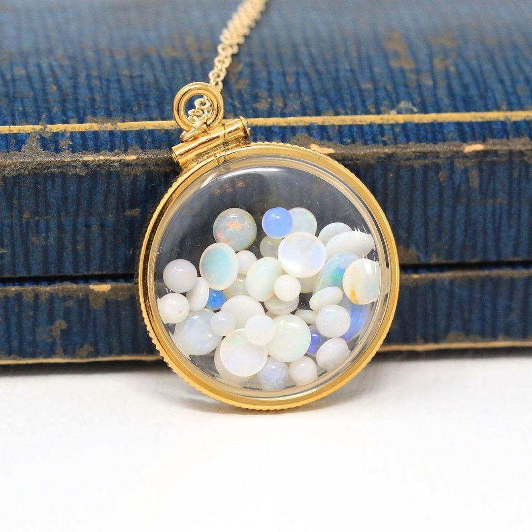 What are your thoughts on this beautiful Opal shaker pendant?  maejeanvintage #highjewelry #artisanjewelry #jewelrydesign #uniquejewelry #behindthescenes #jewelrymaking #jewelersbench #gemstones #handmadejewellery #jewelryaddict #jewellerylover #gemstone #finejewelry pic.twitter.com/8Y3PJqTPNG