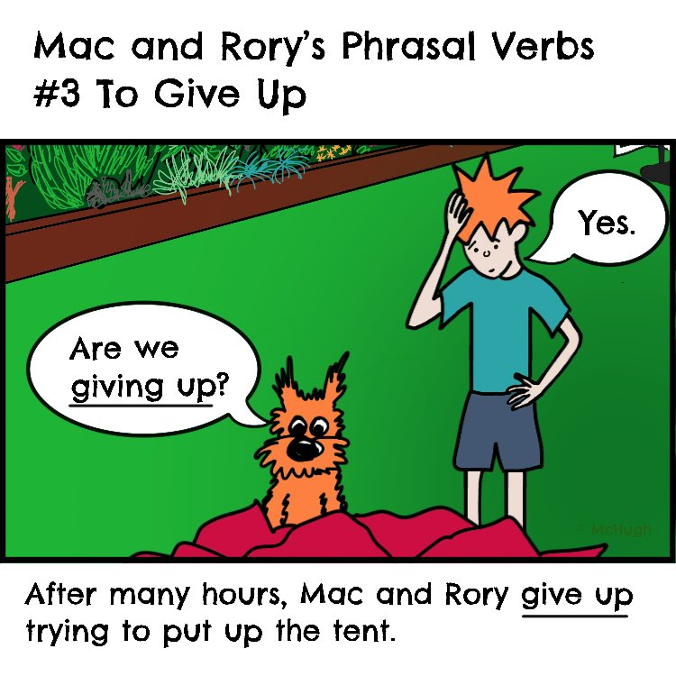 For the full list of phrasal verbs we've done so far, check out Mac and Rory's Grammar Stories at...   http://www.macandrory.com   #english #englishgrammar #phrasalverbs #englishforkids #teachingenglish #learningenglishpic.twitter.com/RUL5OCSF4y